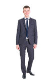Young handsome man in a classic suit Stock Photos