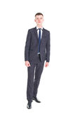 Young handsome man in a classic suit Stock Images