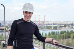 Young handsome man constructor Royalty Free Stock Images