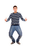 Young handsome man dancing Stock Photo