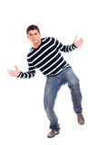 Young handsome man dancing Stock Photography