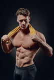 Young handsome man after fitness workout royalty free stock image
