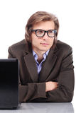 Young and handsome man in glasses Royalty Free Stock Photos