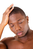 Young handsome man with headache. Royalty Free Stock Photography