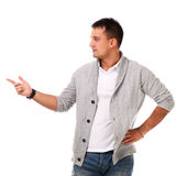 Young handsome man isolated over white background Royalty Free Stock Image