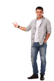 Young handsome man isolated over white background Royalty Free Stock Photography