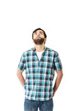 Young handsome man looking up. Stock Photography