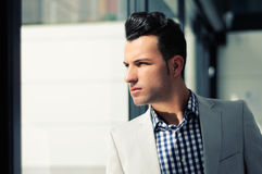 Young handsome man, model of fashion Stock Images