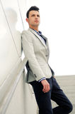 Young handsome man, model of fashion Stock Image
