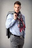 Young handsome man. Portrait of young handsome man wearing elegant casual outfit Royalty Free Stock Images