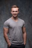 Young handsome man posing stock images
