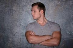 Young handsome man posing Stock Photos