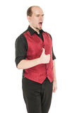 Young handsome man showing thumbs up isolated Royalty Free Stock Photo