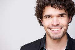Young Handsome Man Smiling at You Royalty Free Stock Images