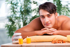The young handsome man during spa procedure Royalty Free Stock Photography