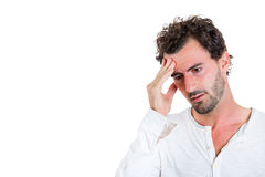 A young handsome man stressed out Royalty Free Stock Photography