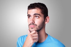 Young handsome man think Royalty Free Stock Photo
