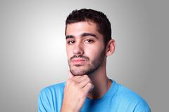 Young handsome man think Stock Photo