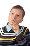 Young handsome man thinking Royalty Free Stock Image