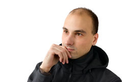 Young handsome man thinking Stock Images
