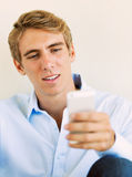 Young Handsome Man Using Smart Mobile Phone, Stock Images
