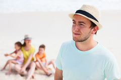 Young handsome man on vacation Stock Photography