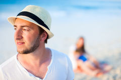 Young handsome man on vacation Royalty Free Stock Image