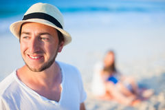 Young handsome man on vacation Stock Images