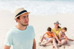 Young handsome man on vacation Stock Photo