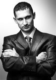 Young handsome man wearing  suit Royalty Free Stock Images