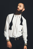 Young handsome man in white shirt Royalty Free Stock Photo