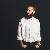 Young handsome man in white shirt Stock Photo