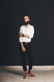 Young handsome man in white shirt Stock Image