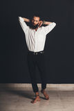 Young handsome man in white shirt Royalty Free Stock Image