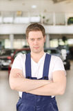 Young handsome mechanic Royalty Free Stock Photo