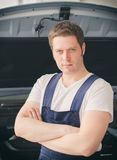 Young handsome mechanic Royalty Free Stock Images