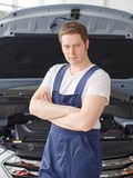 Young handsome mechanic. Stock Images