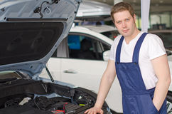 Young handsome mechanic. Stock Image