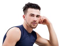 Young handsome muscular man Stock Images