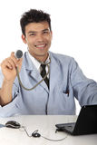 Young handsome Nepalese male doctor Royalty Free Stock Photos