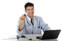 Young handsome Nepalese male doctor Stock Photo