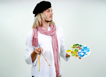 Young handsome painter Stock Photos