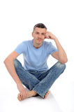 Young handsome possitive man in casual clothes Royalty Free Stock Image
