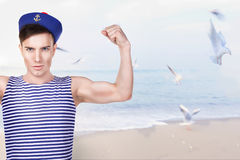 Young handsome sailor Royalty Free Stock Photo