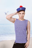 Young handsome sailor Stock Photo