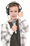Young and handsome singer Royalty Free Stock Image