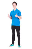 Young handsome smiling man gesturing success sign  Stock Photos
