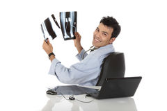 Young handsome successful Nepalese male doctor Royalty Free Stock Photography
