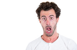 A young handsome surprised, astonished Stock Photography