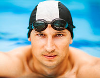 Young handsome swimmer Stock Photography